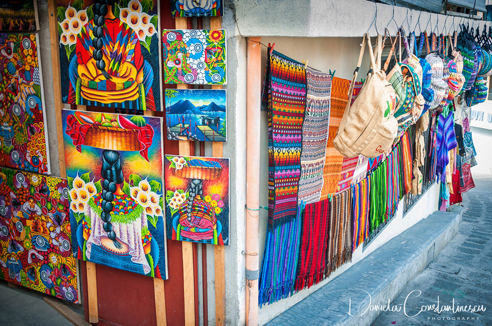Arts and Crafts on sale at market in Guatemala
