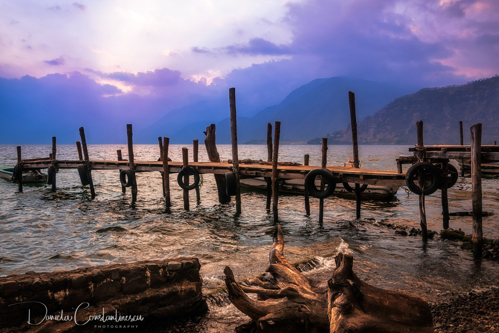 The Shores of Lake Atitlan at sunset