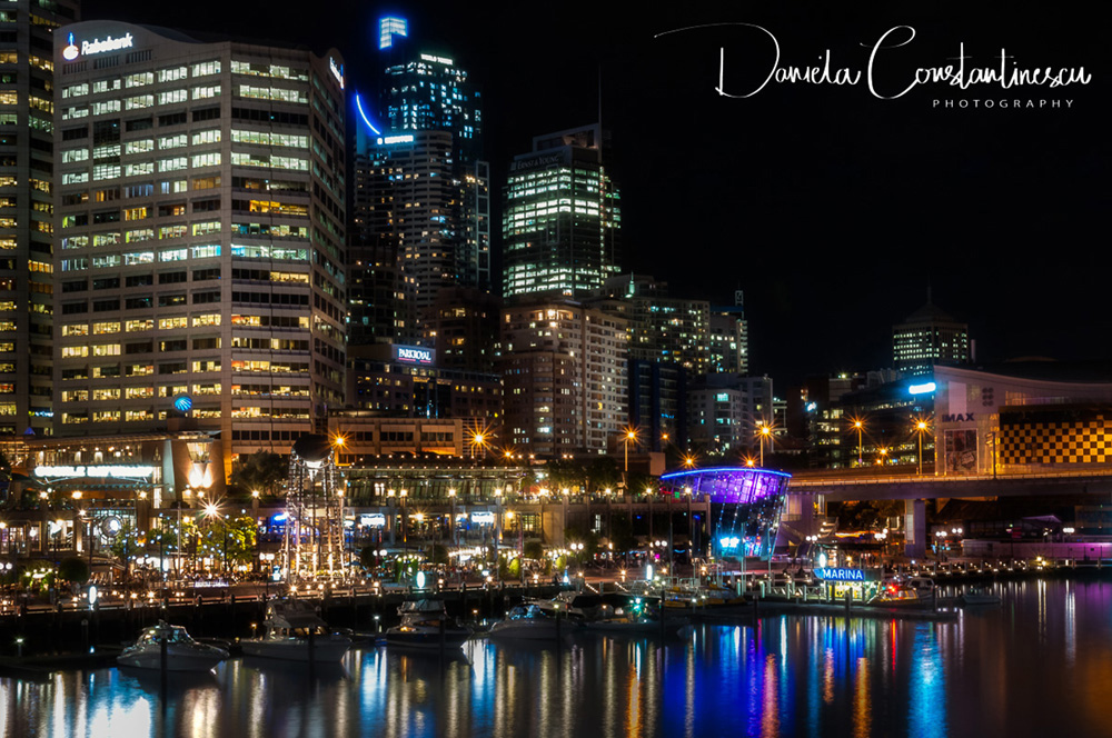Darling Harbour by Night  in Sydney