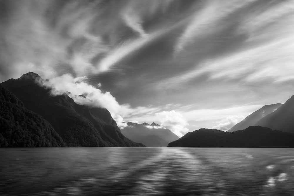 New Zealand -Dramatic clouds and alpine scenery at Lake Manapouri DSC 0745 Edit 1