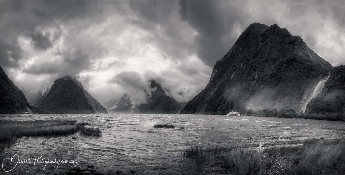 New Zealand -Dramatic weather conditions at Milford Sound