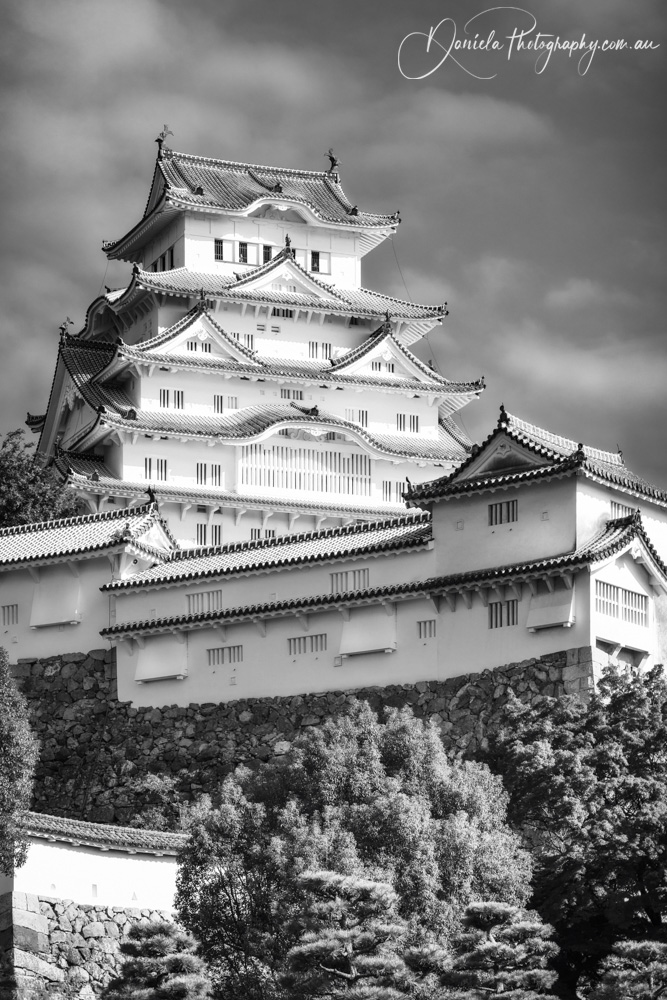 Traditional Castle Keep Tower -Himeji, Japan
